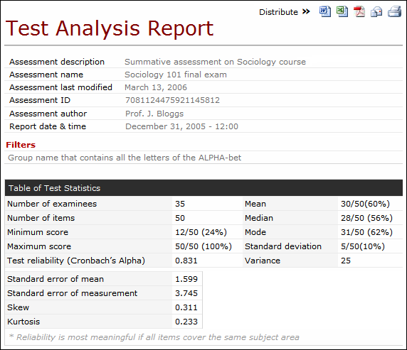 Trend Analysis Report Template from support.questionmark.com